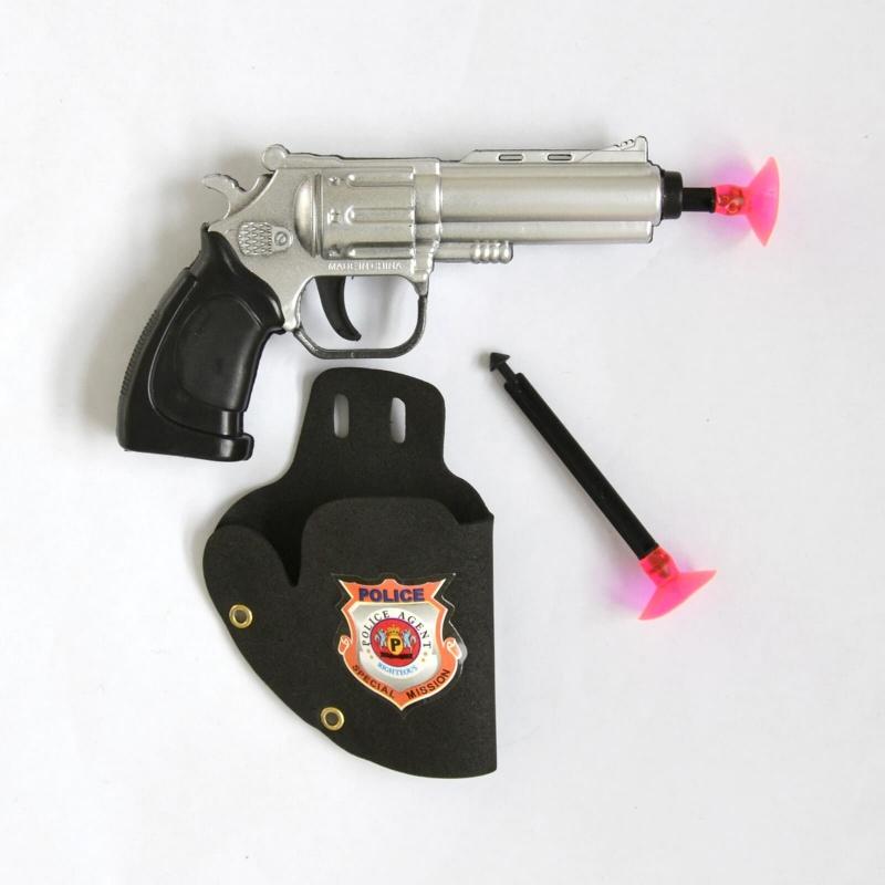Pistolet policier en plastique