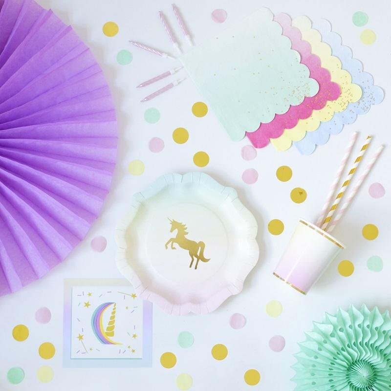 1 kit de partie licorne pour 8 à 16 enfantspartie vaissellelicorne anniversaire