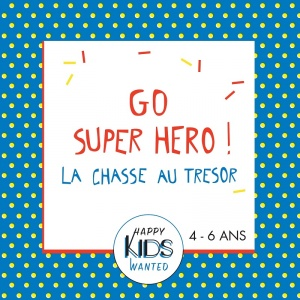 Kit Chasse au trésor Super-Héros (4-6 ans)