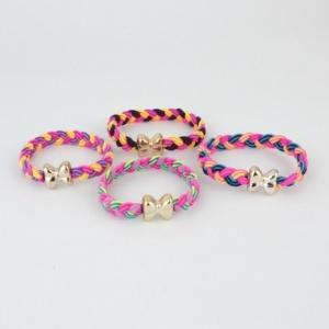 1 bracelet élastique nœud papillon