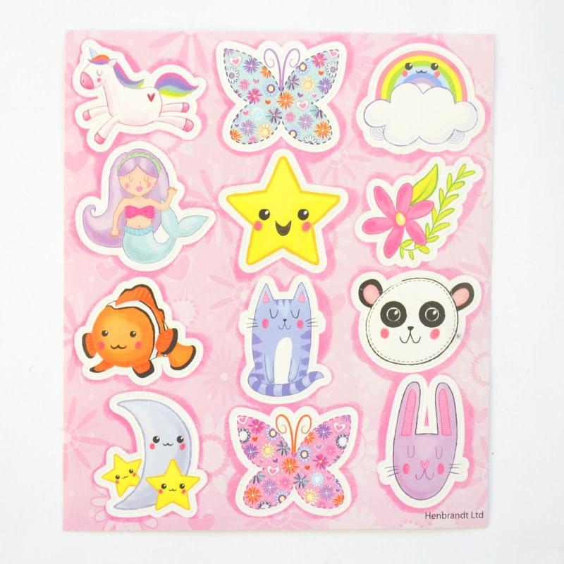 1 planche de 12 stickers kawaii