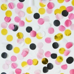 Confettis Rose et doré