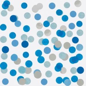 Confettis Bleu et argent
