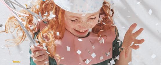 Confettis pour les fêtes d'anniversaire de vos enfants