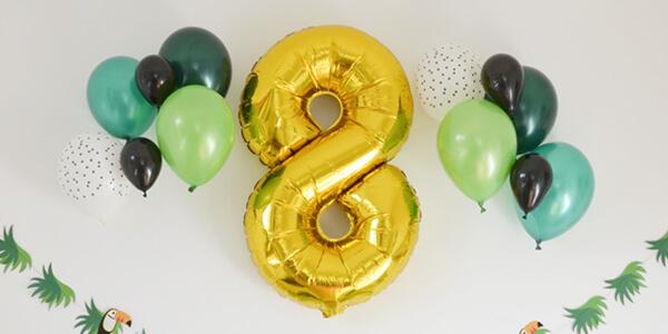 Ballon Mylar géant chiffré (âge de l'enfant)